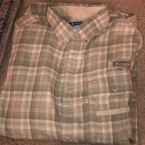 Columbia PHG Plaid Taupe Long Sleeve